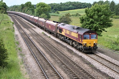 66187 1212/4D07 Drax-Immingham passes Knabbs Bridge