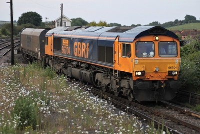 66704 2104/6c21 Immingham-Eggborough passes Barnetby