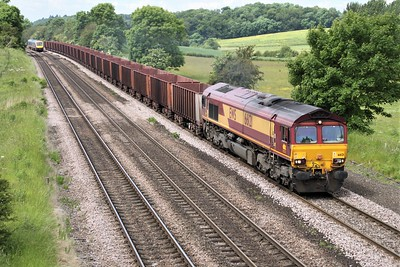 66121 1150/6k23 Santon-Immingham passes Knabbs Bridge