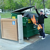 Sunday morning, Todd doing some early Dumpster Diving to get the good stuff..