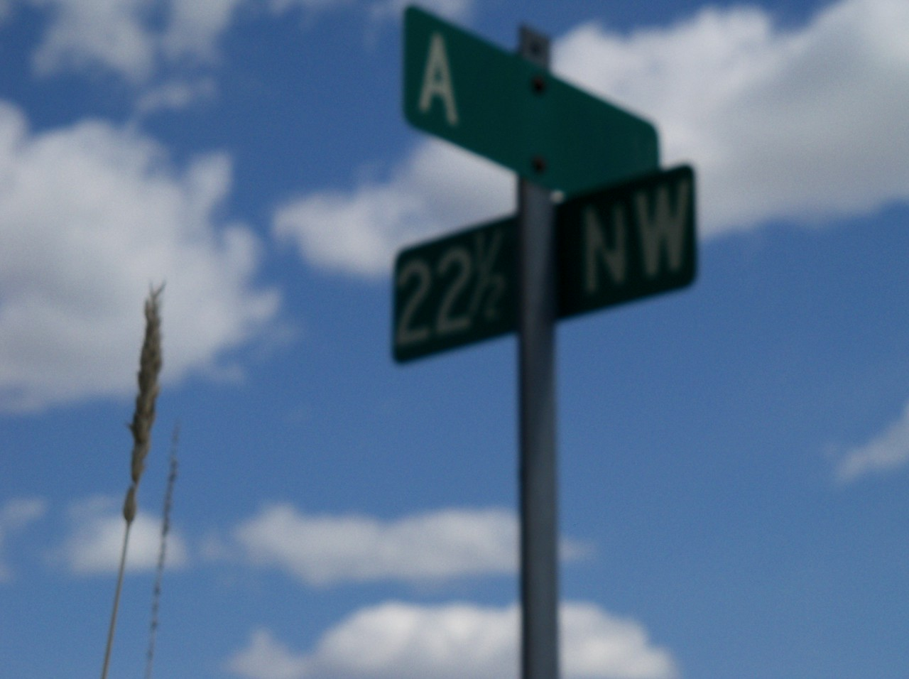 "the address reads ""A"" and ""22 1/2 NW"""