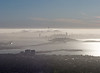 View of Bay Bridge and San Francisco from Berkeley Hills