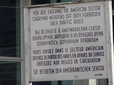 Berlin, Germany - Checkpoint Charlie