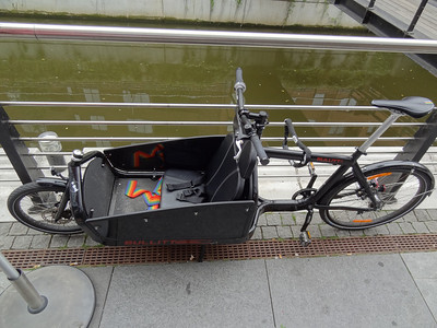 Interesting bike carries extra person, groceries, or whatever!