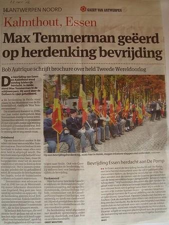 Herdenking Bevrijding 2012