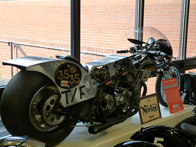 Norton dragster designed to beat Harley Davidson's hold on drag racing.