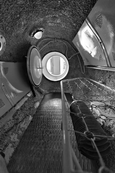 Inside the portable decompression chamber at the Banja Luka Dive Club BUK.