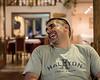 Matt at dinner in Bosanska Krupa