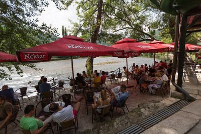 Cafe at the Banja Luka Dive Club BUK.