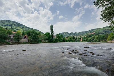 View across the Vrbas River outside the Banja Luka Dive Club BUK.