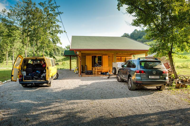 The accommodation just outside of at dinner in Bosanska Krupa.