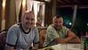 Renato and Emir at dinner in Bosanska Krupa