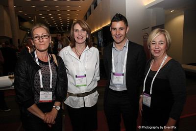 Jacqui Sadler and Julie Hood (New Zealand Veterinary Association), Lee Watkins (Auckland Convention Bureau), Denise Siviter (Rotorua Convention Bureau)