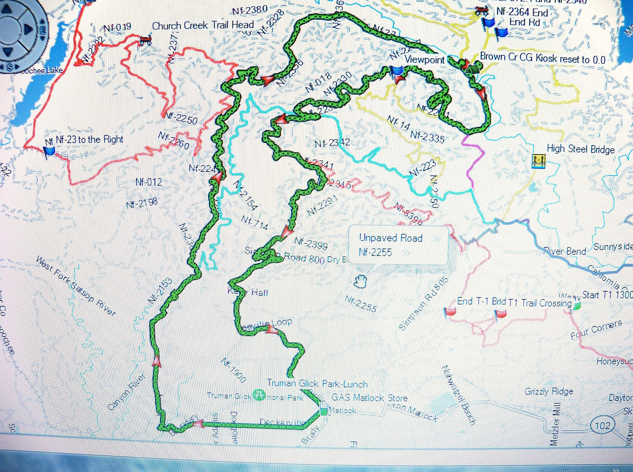 This is a GPS Track of the route we rode Friday Aug. 10th...