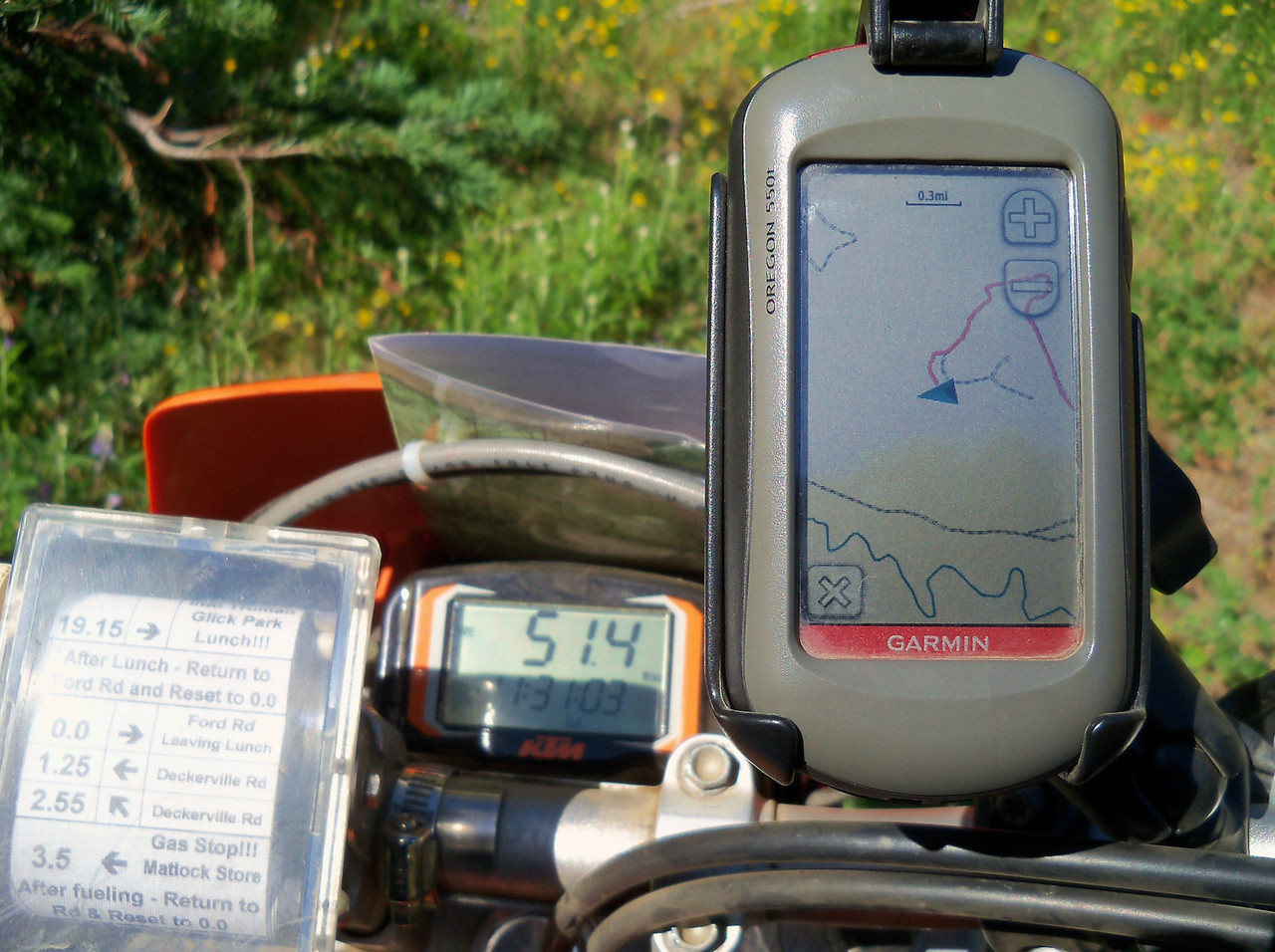 """The Oregon is awesome... I added the Garmin """"City Navigatior"""" N. America map set with routeable roads... I set the Oregon to """"Motorcycle Driving""""..."""