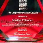 Mount Sinai School Of Medicine Center For Multicultural & Community Affairs, The Corporate Diversity Award 2012 Marilyn F  Booker