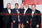 Jack Ford, Brian d'Arcy James,Laura Wheat, Honoree Carmen Marc Valvo,Doug Wheat