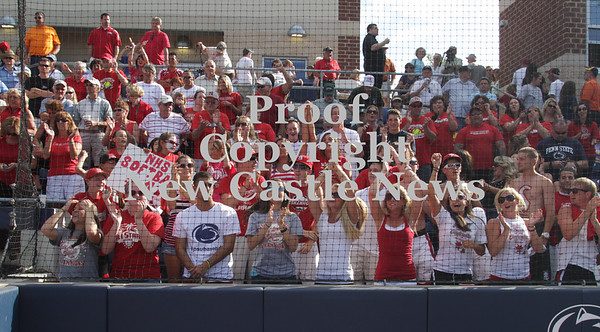 Erica Galvin/NEWS<br /> The Neshannock fans celebrate with the team after winning the PIAA Class AA Championship.