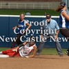 Erica Galvin/NEWS<br /> Neshannock's Marissa Dematteo slides safely into second after stealing in the third inning.