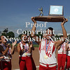 Erica Galvin/NEWS<br /> Neshannock senior, Amanda Furst recieves the PIAA Class AA Championship trophy for her team yesterday.