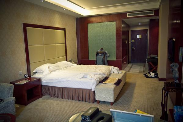 My hotel room.