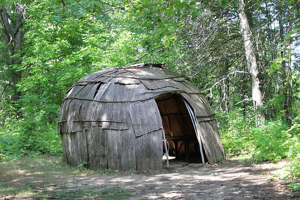 Wigwam @ Chippewa Nature Center.