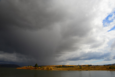 Storm clouds over Steamboat Lake