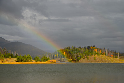 Rainbow over Steamboat Lake