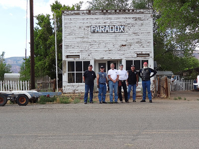 Paradox, Colorado - from left - Gene Beyers, Gregg Moran, Bob Brooks, Bob Beltz, Steve White, David Clouse