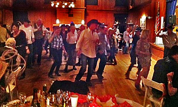Scootin' the Boots at the Ball.  Thanks Linda Abrahm