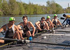 Boys Varsity 8: back at the dock