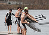 Boys 2nd Varsity: putting boat in the water