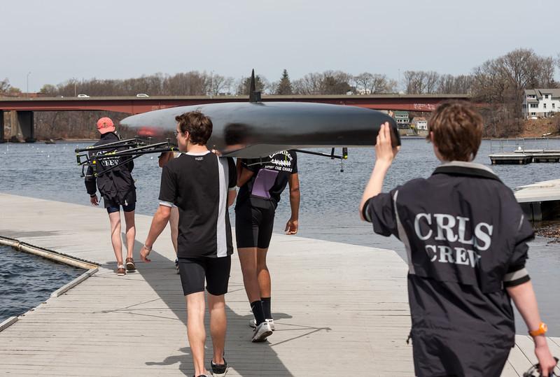 Boys 3rd Varsity on the dock