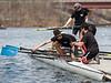 Boys 4th Varsity putting in oars