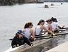 Girls 1st Varsity back at the dock: Kira, Louisa, Klara, Ruby & Dinah