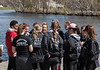 Girls on dock