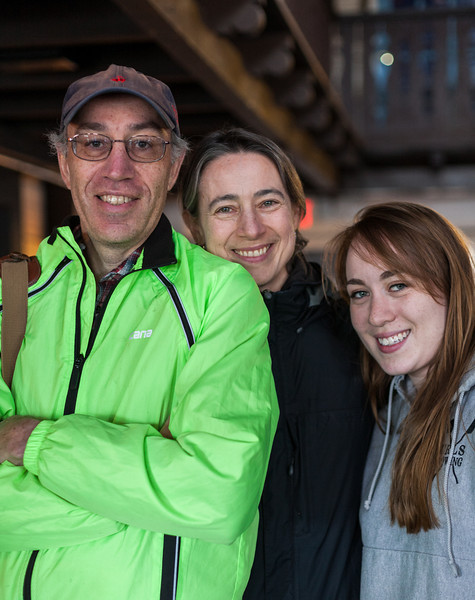 Richard, Chantal, and Isabel in the CBC boathouse