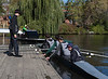 Benjamin watching JV  boat push off