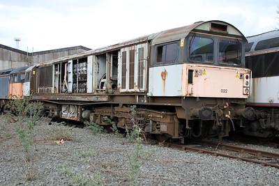 58022 at Crewe Diesel 17/03/12