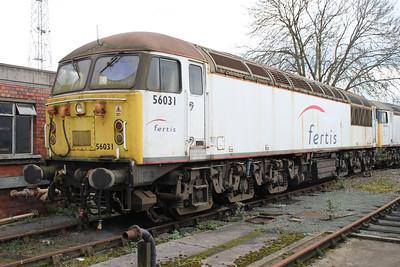 56031 at Crewe Diesel 17/03/12