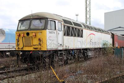56074 at Crewe Diesel 17/03/12