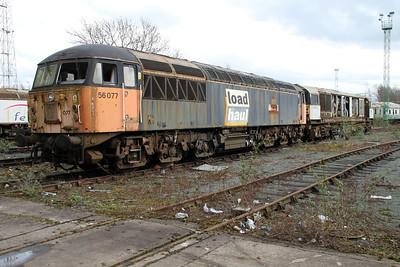 56077 at Crewe Diesel 17/03/12