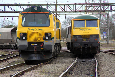 70014 and 90045 in Basford Hall 17/03/12