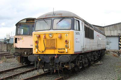 56078 at Crewe Diesel 17/03/12