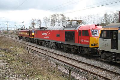 90035_60007_92030 1435/0z98 Warrington-Bescot Light Engine move 17/03/12