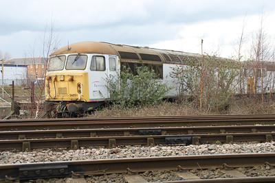 56051 at Crewe Diesel 17/03/12