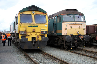 66602 and 47811 in Basford Hall 17/03/12