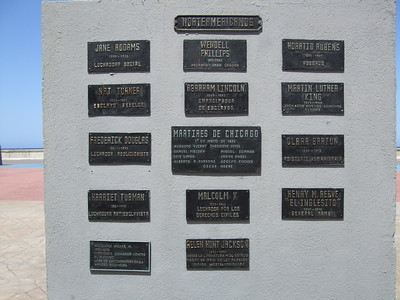 Plaques honoring U.S. civil rights figures - Sandy Kirkpatrick