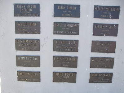 Plaques honoring U.S. intellectuals - Sandy Kirkpatrick