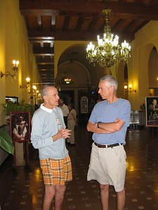 Cliff and Stuart in Hotel Nacional lobby - Linda Fan
